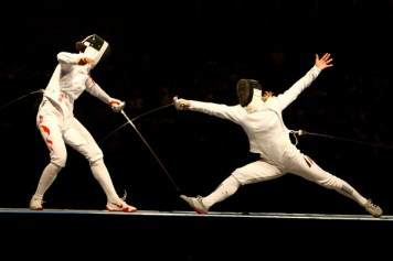 great example of a direct attack epee fencing