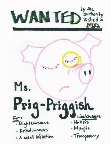 definition of priggish image, smurk